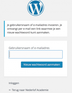wachtwoord kwijt?